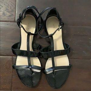 Excellent condition black Nine West sandals.